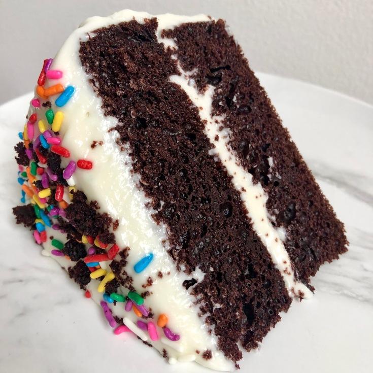 Light Chocolate Bday cake