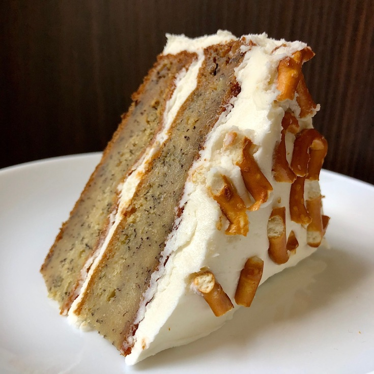 Banana Cake with Salted Vanilla Buttercream Frosting