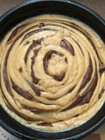 Swirled batter, pre-bake