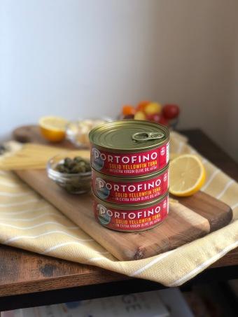 Lemon Caper Tuna Pasta