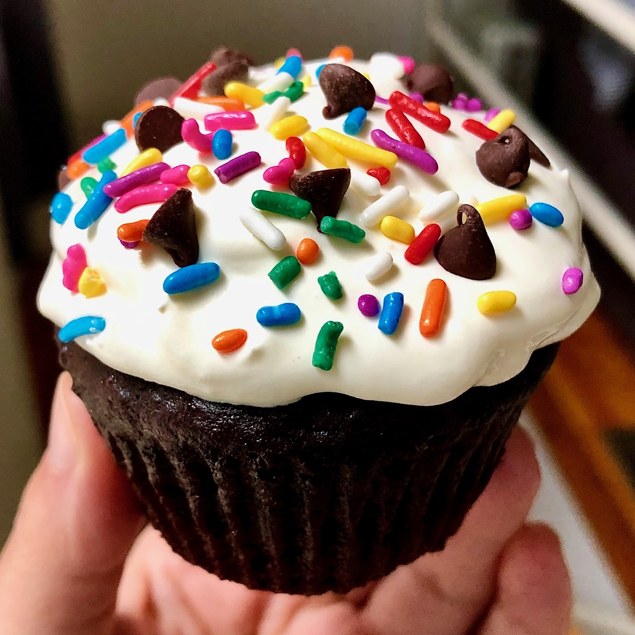 lighter chocolate cupcake