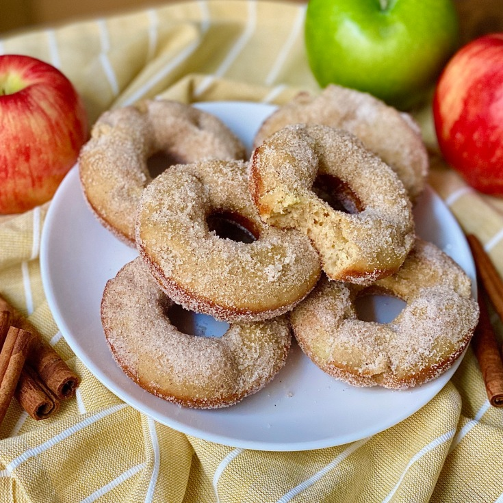 healthier apple cider donuts