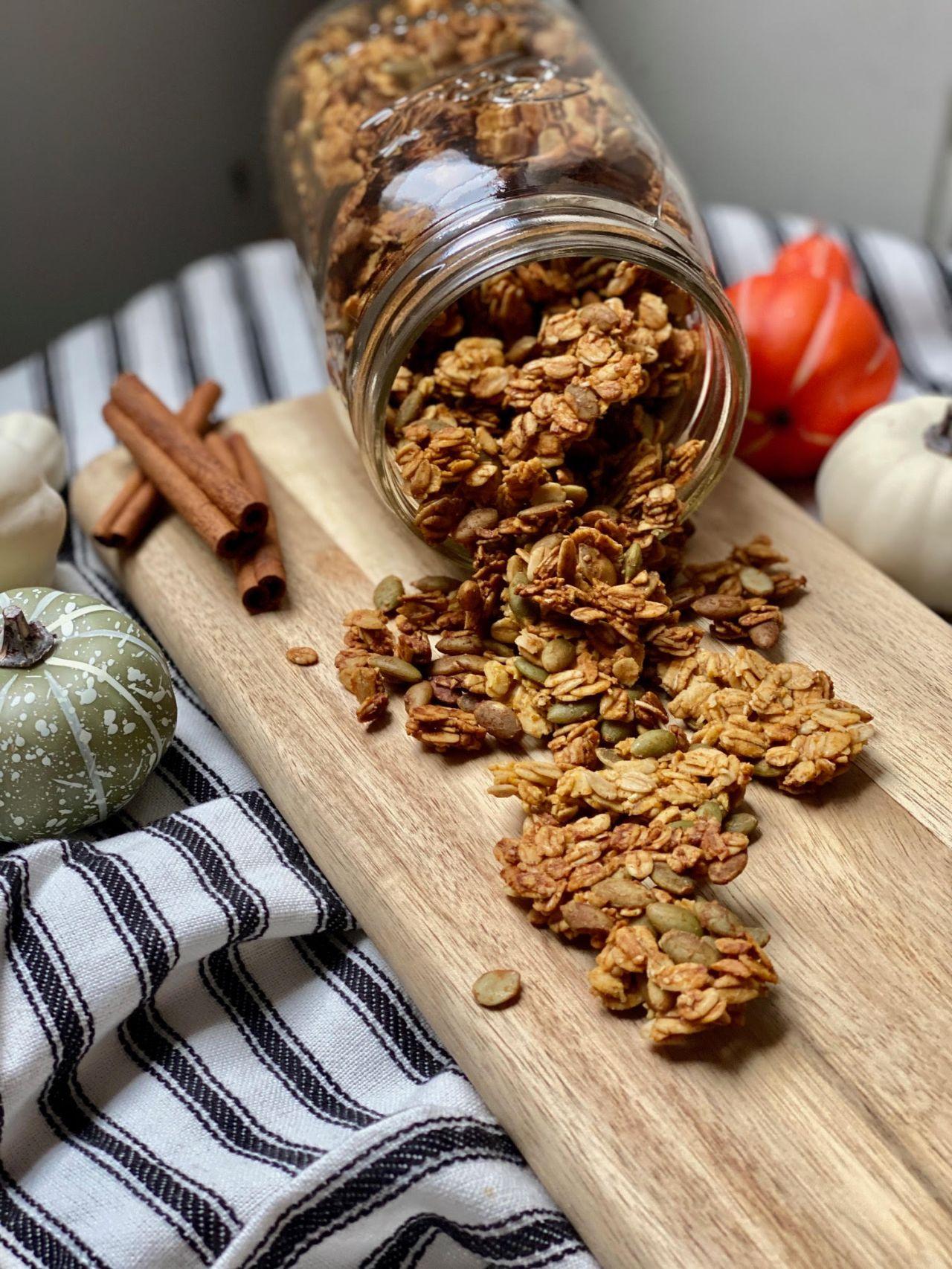 paleo pumpkin granola