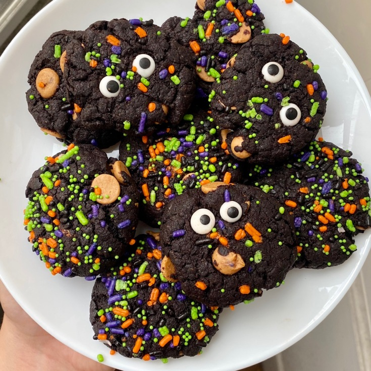 Chocolate Peanut Butter Monster Cookies